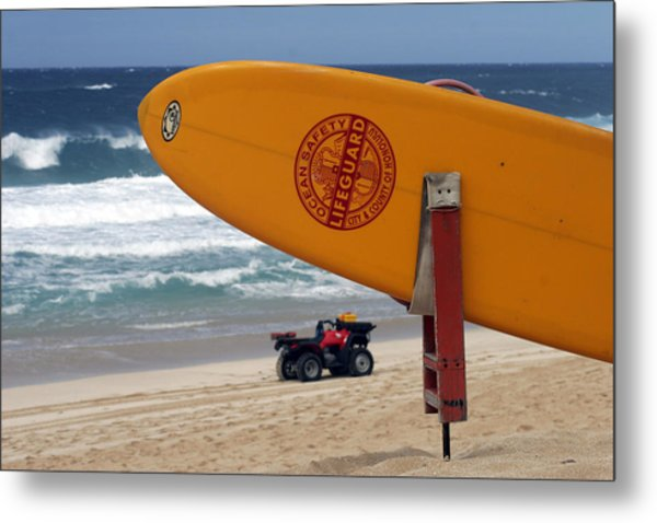 Safety First, Oahu Metal Print