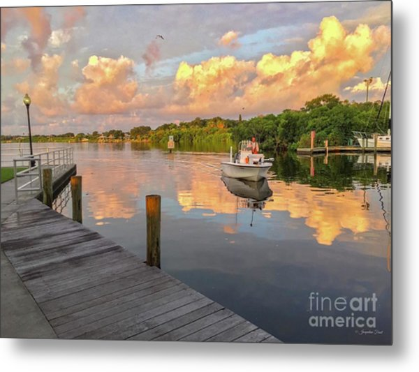 Safety Harbor Fisherman  Metal Print