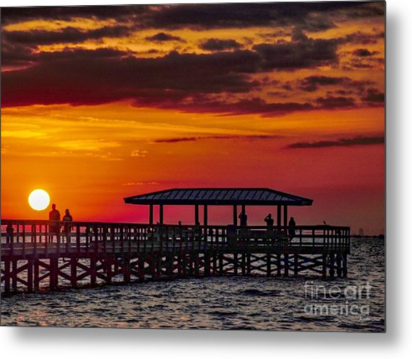 Safety Harbor Sunrise Metal Print
