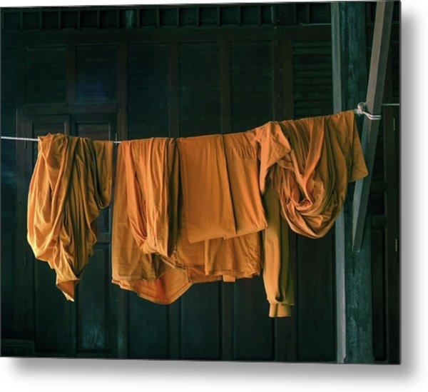 Saffron Robes Metal Print
