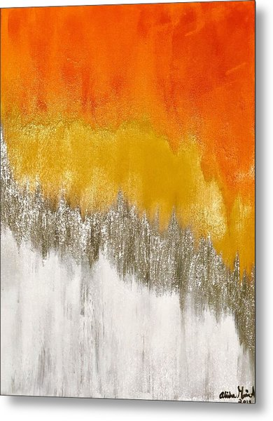 Saffron Sunrise Metal Print