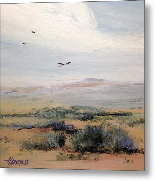 Metal Print featuring the painting Sageland by Helen Harris