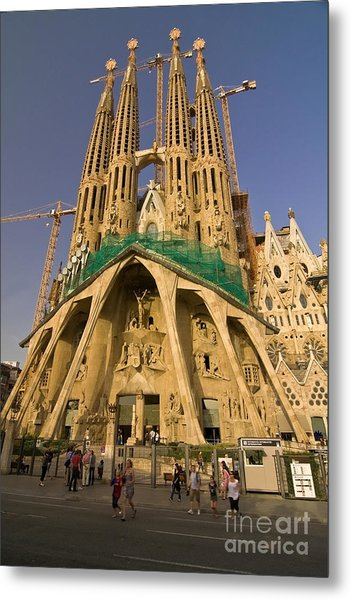 Sagrada Famila In The Fading Sun. Metal Print