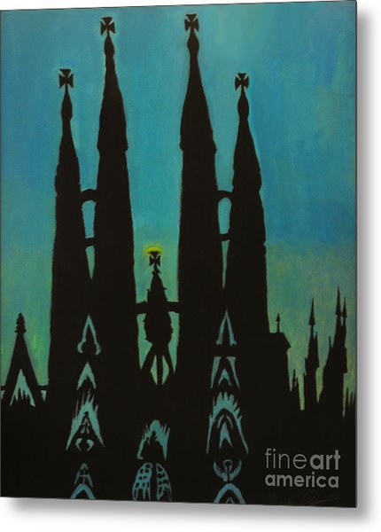 Sagrada Shadows Metal Print