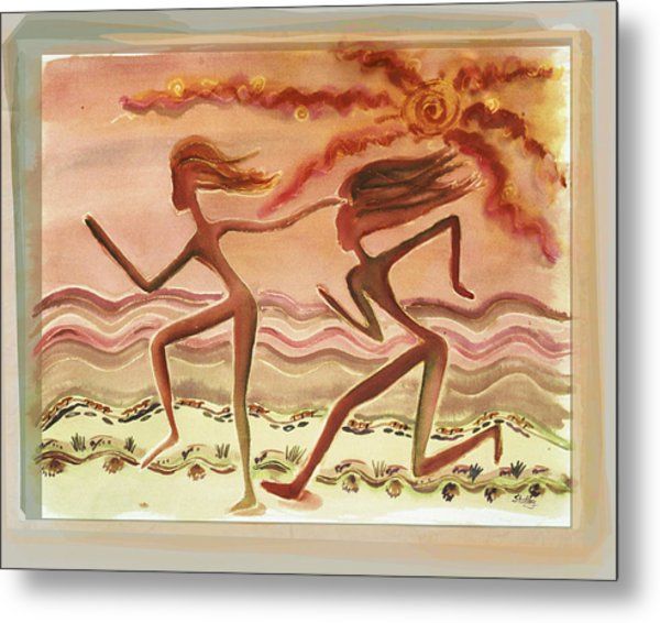 Saharan Runners Metal Print