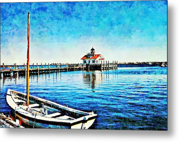 Metal Print featuring the painting Sail Away by Joan Reese
