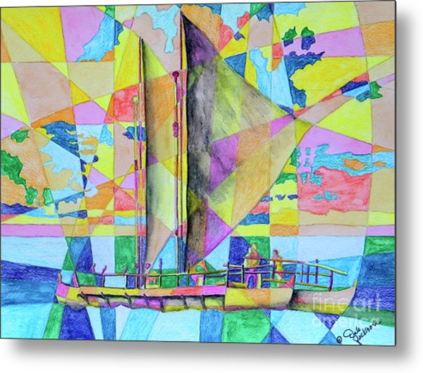 Sail Away Sunset Metal Print