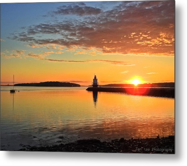 Sail Into The Sunrise Metal Print