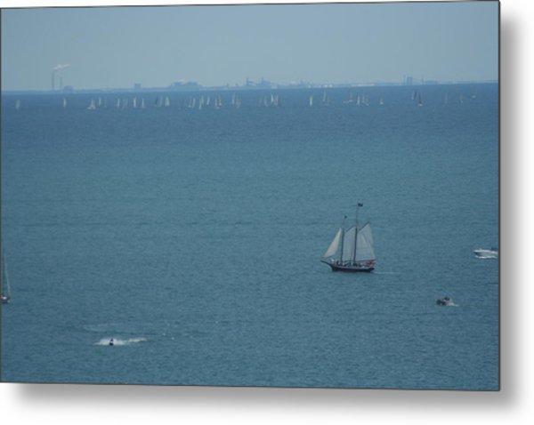 Sail On Michigan Metal Print by Gregory Jeffries