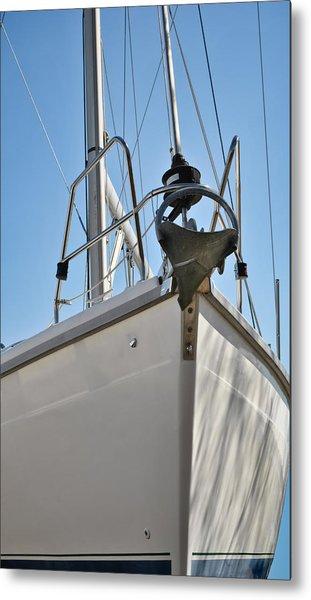 Sailboat Bow 3 Metal Print