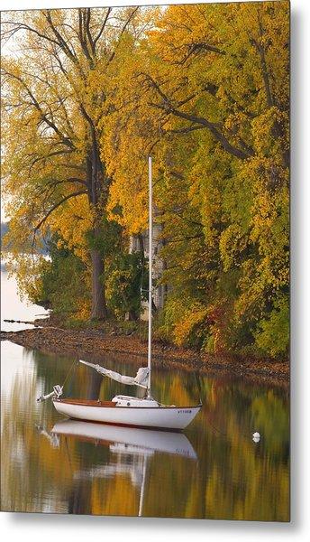 Sailboat In Alburg Vermont  Metal Print