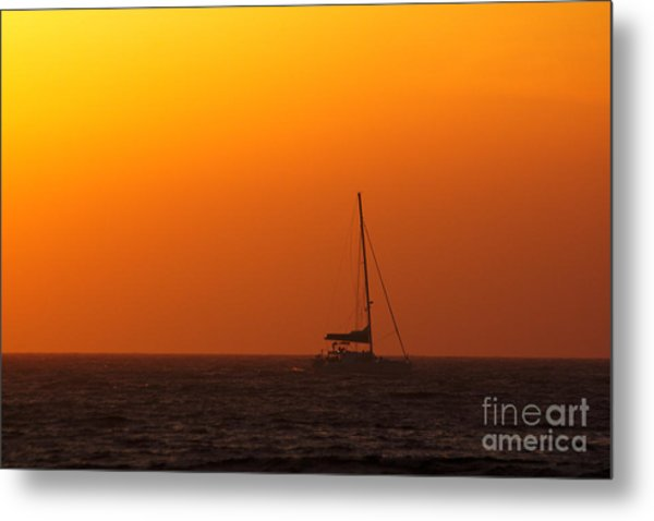 Metal Print featuring the photograph Sailboat Waiting by Jeremy Hayden