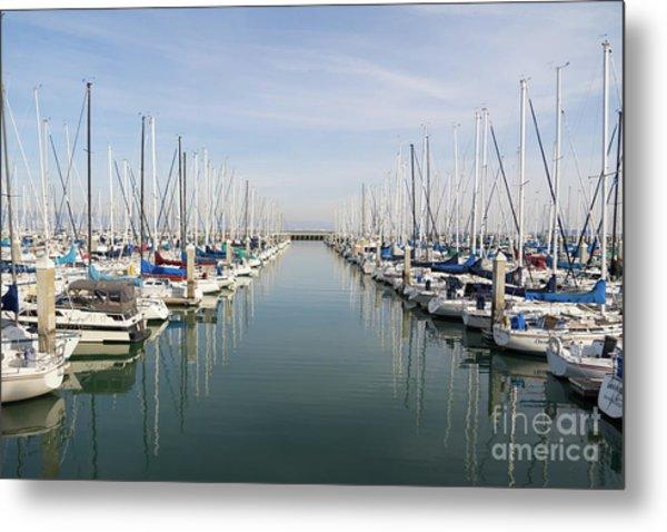 Sailboats At South Beach Harbor San Francisco Dsc5767 Metal Print
