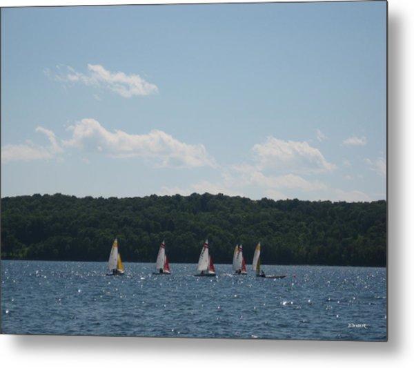 Sailboats In Eagle Harbor Metal Print