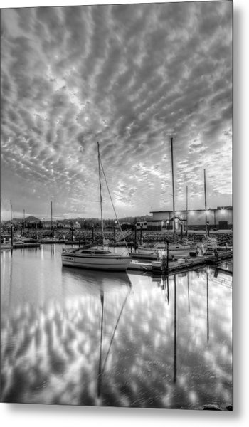 Sailer's Delight Black And White Metal Print
