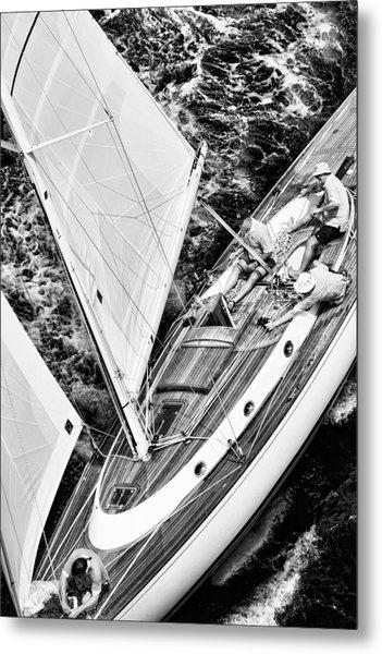 Sailing A Classic Metal Print