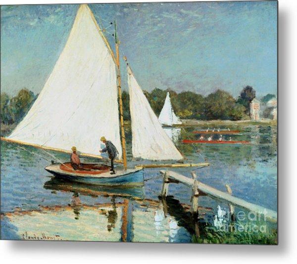 Sailing At Argenteuil Metal Print