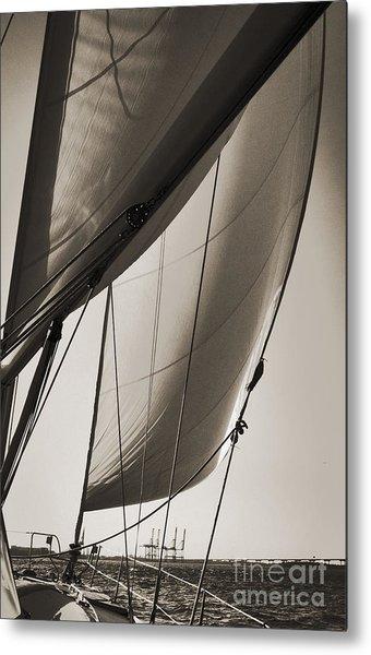Sailing Beneteau 49 Sloop Metal Print