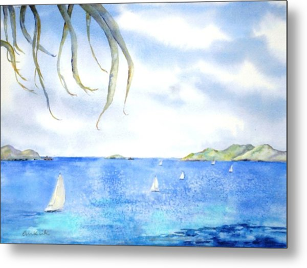 Sailing Between The Islandsd Metal Print