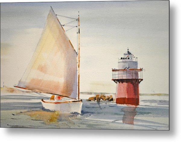 Sailing By Buglight  Metal Print