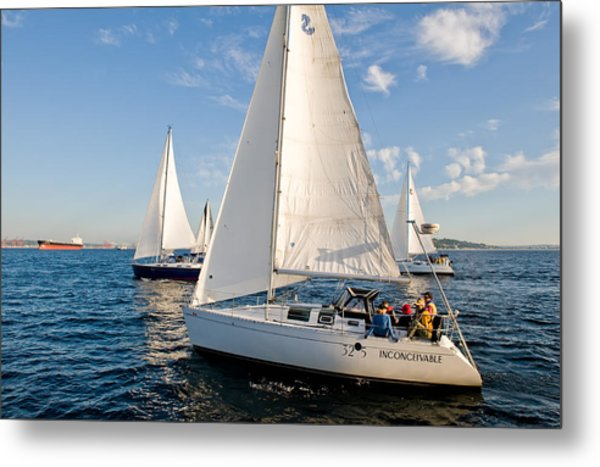 Sailing Crew Metal Print by Tom Dowd