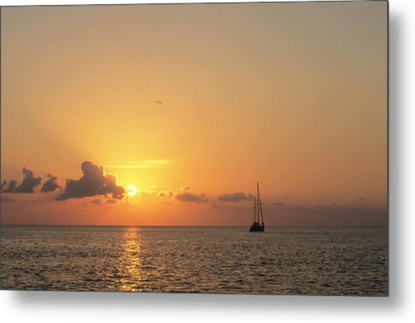 Crusing The Bahamas Metal Print