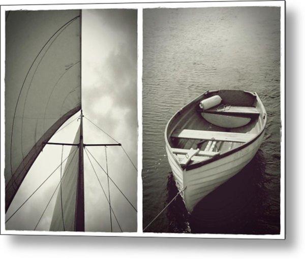 Sailing Diptych Metal Print