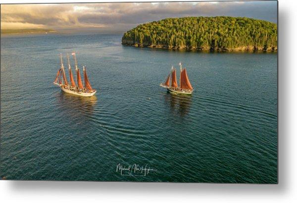 Sailing Frenchman Bay Metal Print