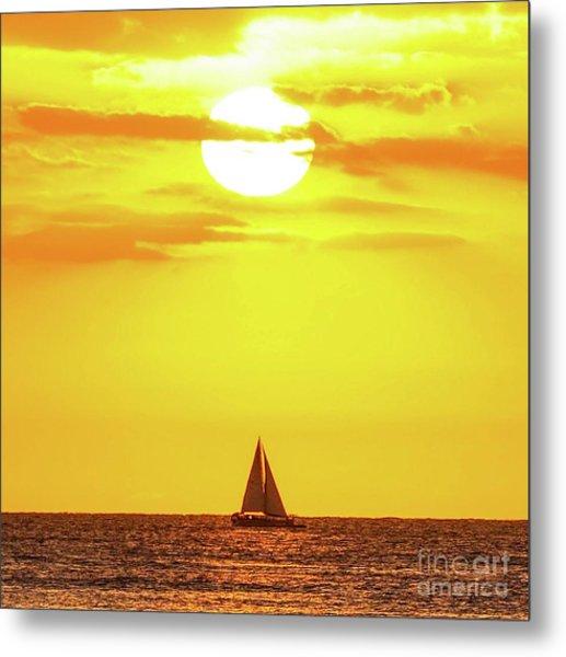 Sailing In Hawaiian Sunshine Metal Print