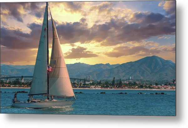 Sailing In San Diego Metal Print