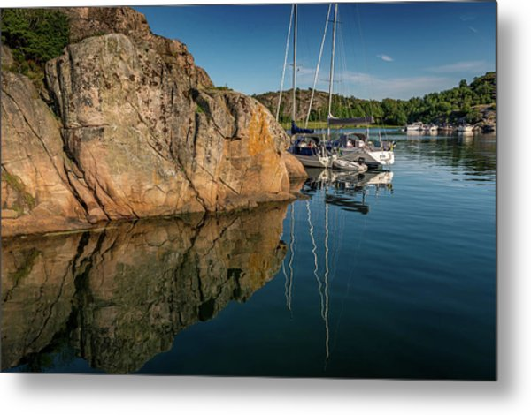 Sailing In Sweden Metal Print