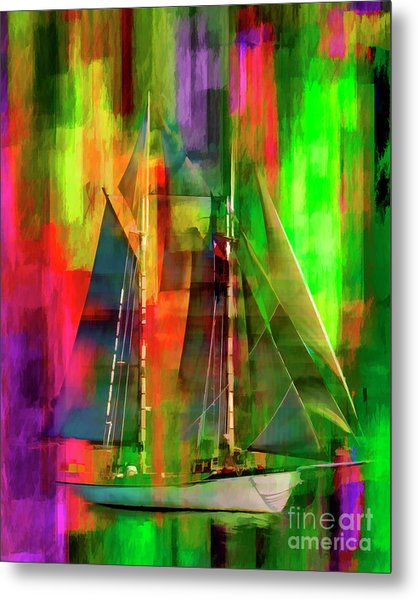 Sailing In The Abstract 2016 Metal Print
