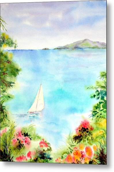 Sailing In The Caribbean Metal Print
