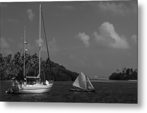 Sailing In The San Blais Islands Metal Print