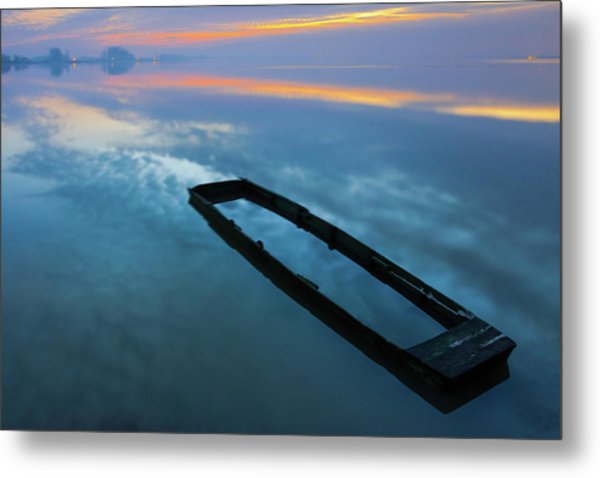 Sailing In The Sky Metal Print