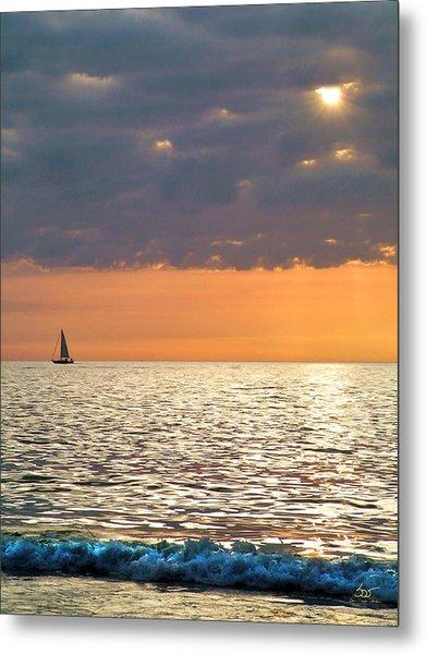 Sailing In The Sun Metal Print