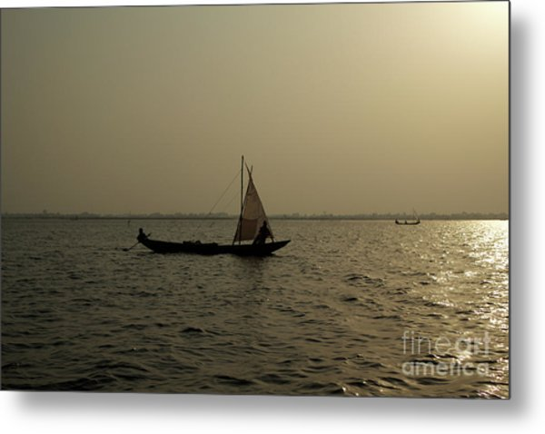 Sailing Into The Sunset Metal Print by David Shaffer