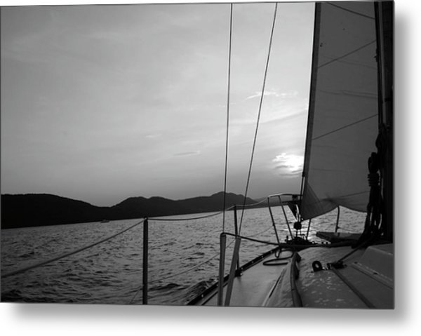 Sailing Metal Print by Maria Lopez