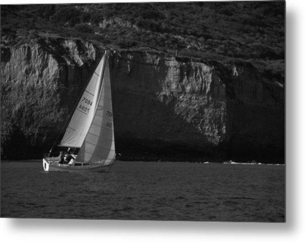 Sailing Off Southern California Metal Print