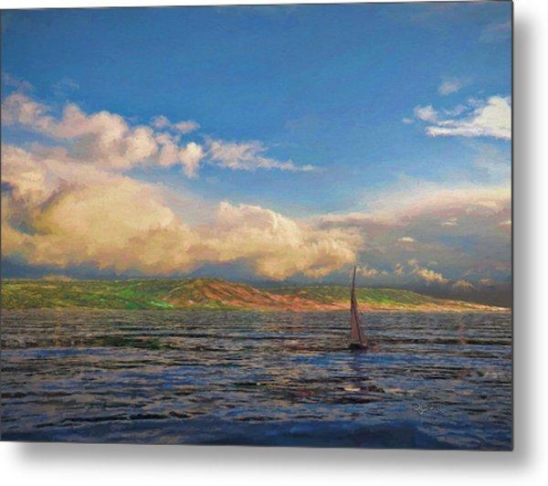 Sailing On Galilee Metal Print