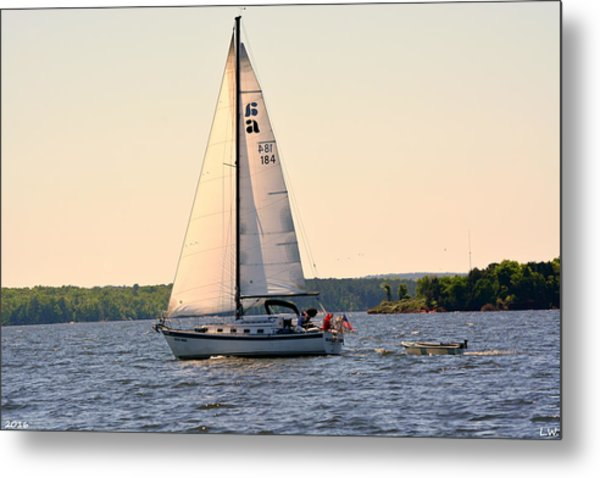 Metal Print featuring the photograph Sailing On Lake Murray Sc by Lisa Wooten