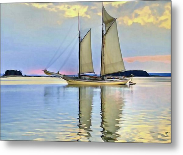 Sailing Sailin Away Yay Yay Yay Metal Print by  Fli Art