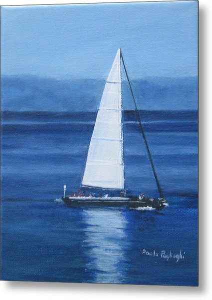 Sailing The Blues Metal Print
