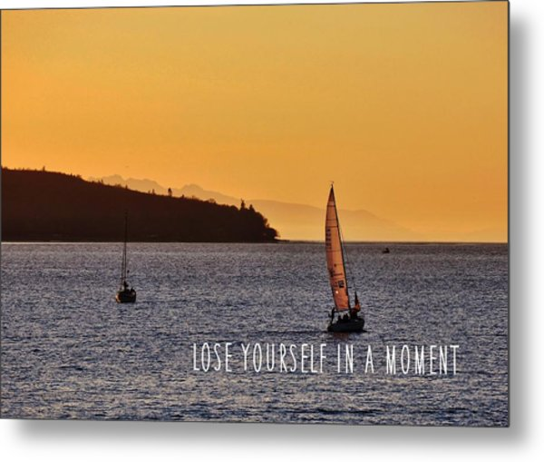 Sailing The English Bay Quote Metal Print by JAMART Photography