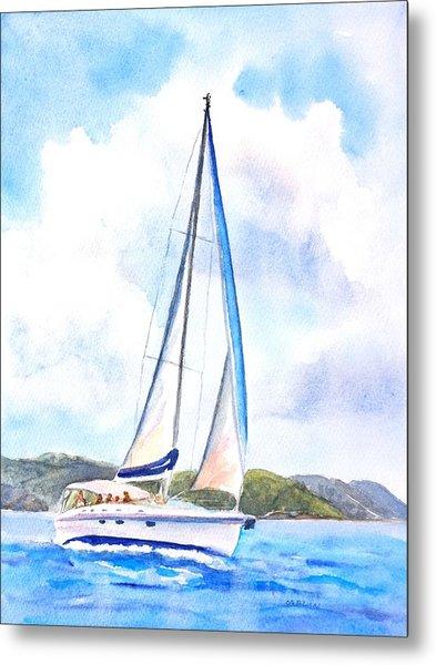 Sailing The Islands 2 Metal Print