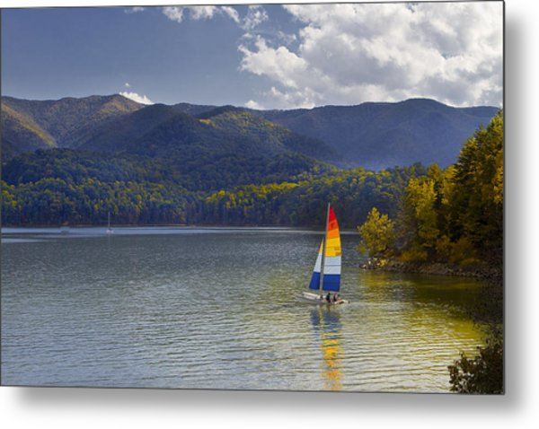 Sailing The Mountain Lakes Metal Print