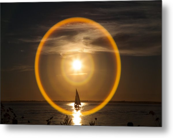 Sailing Through The Iris Metal Print