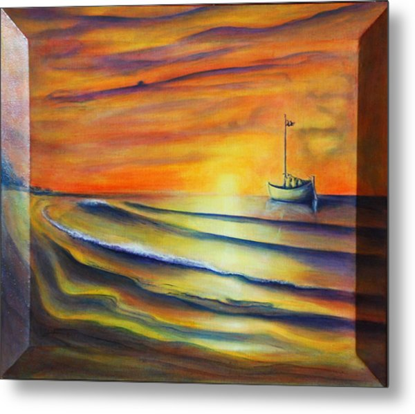 Metal Print featuring the painting Sailor's Delight by Thomas Lupari