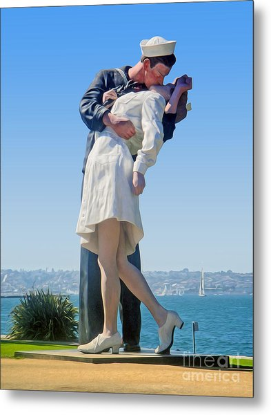 Sailors Kiss Metal Print