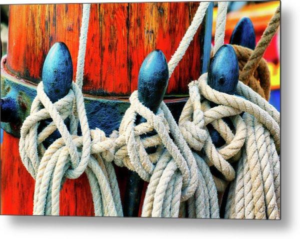 Sailor's Ropes Metal Print
